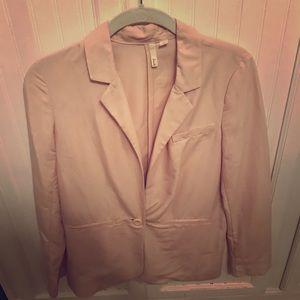 Light pink long blazer